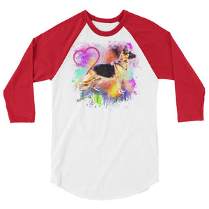 Ladies' GSD Love 3/4 Raglan Tee