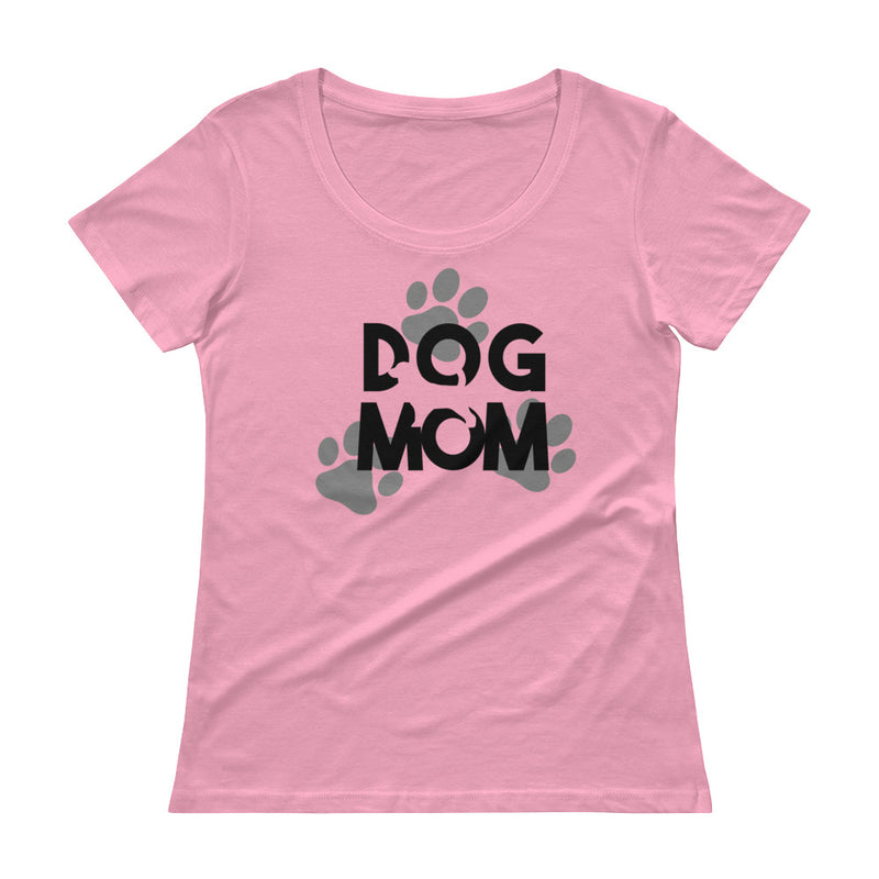Ladies' Dog Mom Scoopneck T-ShirtCharityPink / XS - K9 & Company