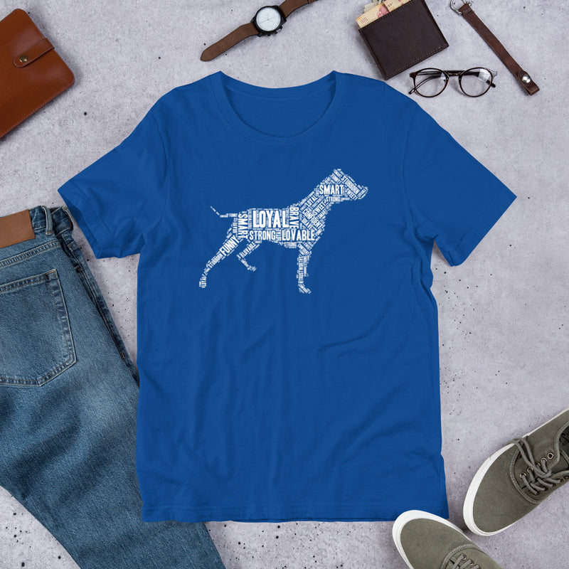 Pit Bull Wordart T-ShirtTrue Royal / S - K9 & Company