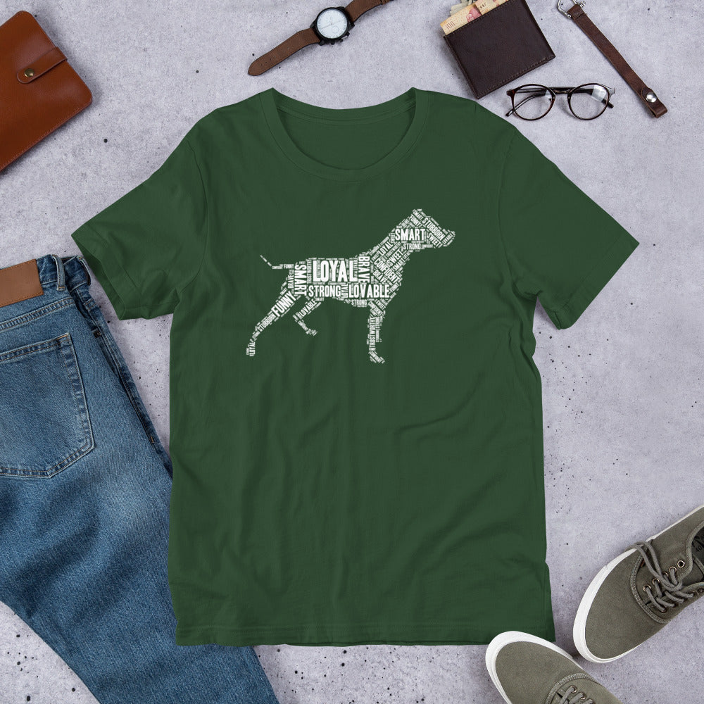 Pit Bull Wordart T-ShirtForest / S - K9 & Company