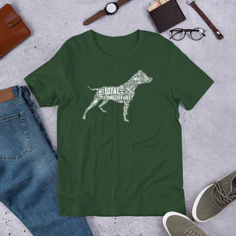 Pit Bull Wordart T-Shirt