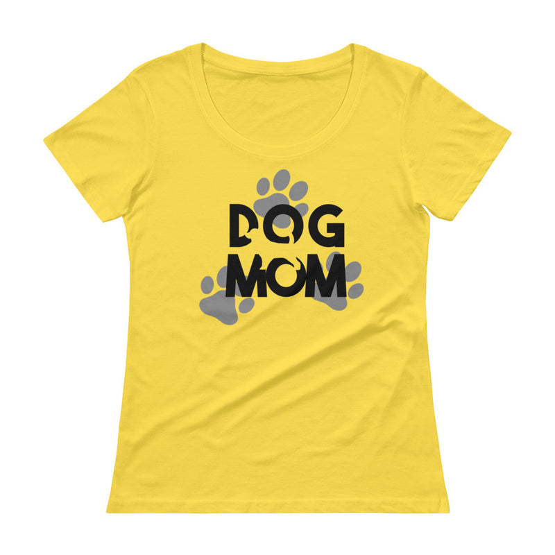 Ladies' Dog Mom Scoopneck T-ShirtLemon Zest / XS - K9 & Company