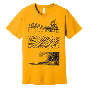 The Art and Architecture of Cabrillo Marine Aquarium T Shirt (Gold)