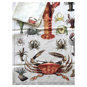 Crustacean Vintage Tea Towel