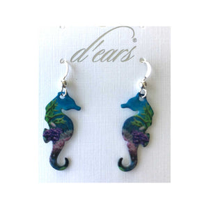 Coral Reef Seahorse Earrings