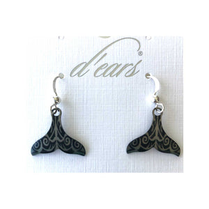 Kakau Whale Tail Earrings