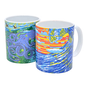 John Van Hamersveld: The Art and Architecture of Cabrillo Marine Aquarium Mural Coffee Mug Set