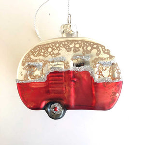 Round Californian Camper Ornament