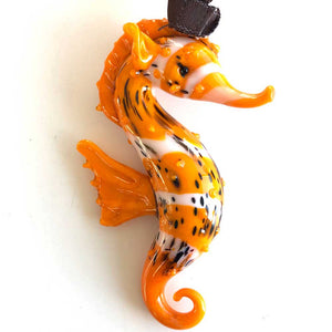 Orange Seahorse with Cabrillo Ribbon
