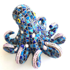 Shades of Blue Octopus by Barcino