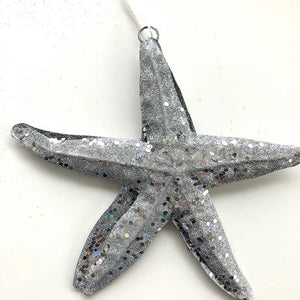 Silver Sea Star Ornament