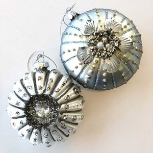 Silver Sea Urchin Ornament