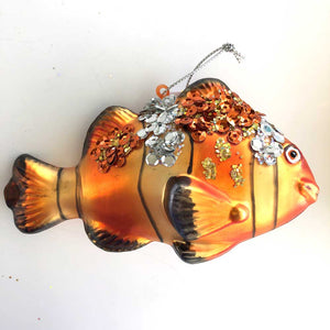Sparkly Clown Fish Ornament