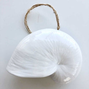 White Nautilus Shell Ornament