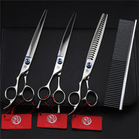 "8.0"" Dog Left Hand Curved Thinning Scissors"