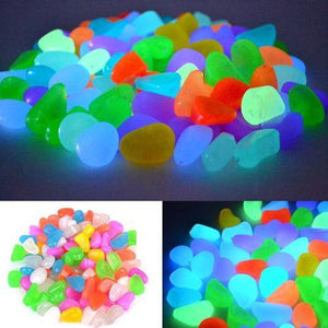 100pcs/set Glowing Garden Pebbles