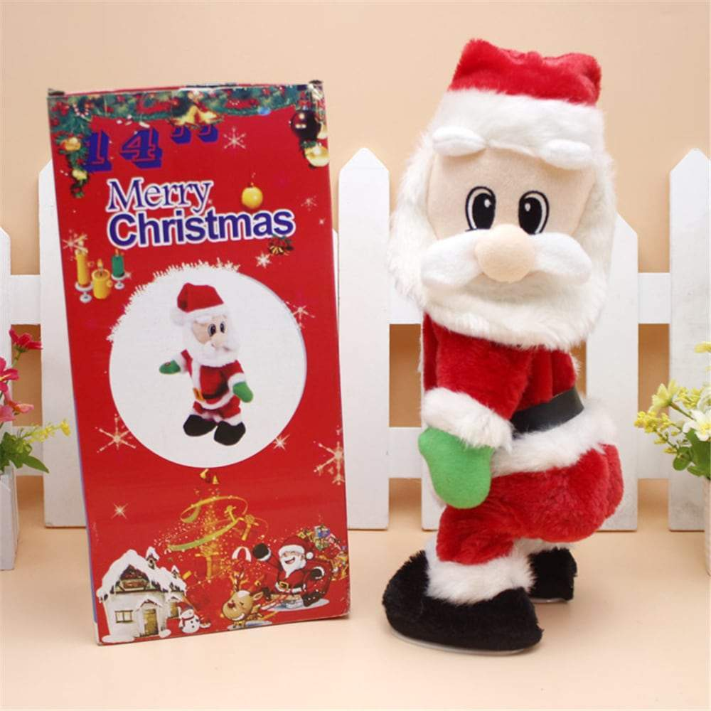 Christmas Santa Claus Figure Twisted Hip Twerking Singing