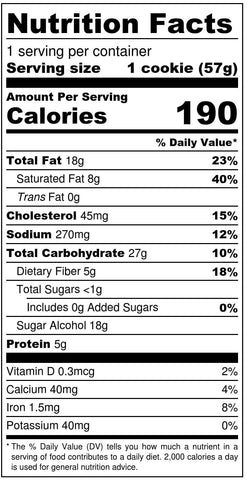 Chocolate Chip Cookie Nutrition