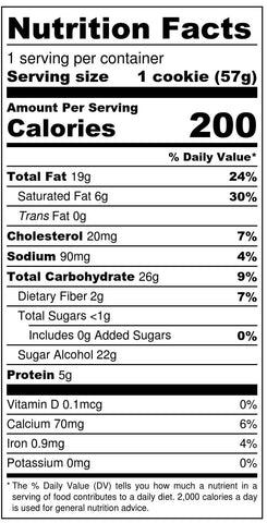 Snickerdoodle Nutritional