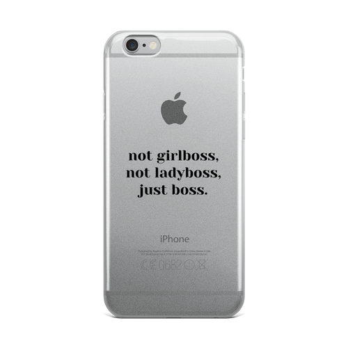 JUST BOSS iPHONE CASE