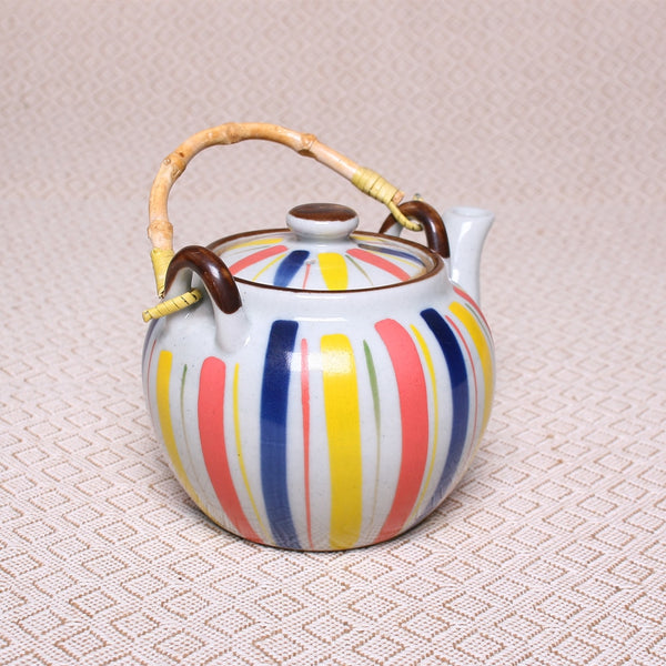 Hand Painted Stoneware Teapot | Vonrose Tea Merchants