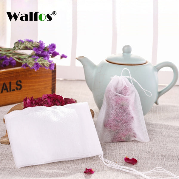 100Pcs Tea Bags With String