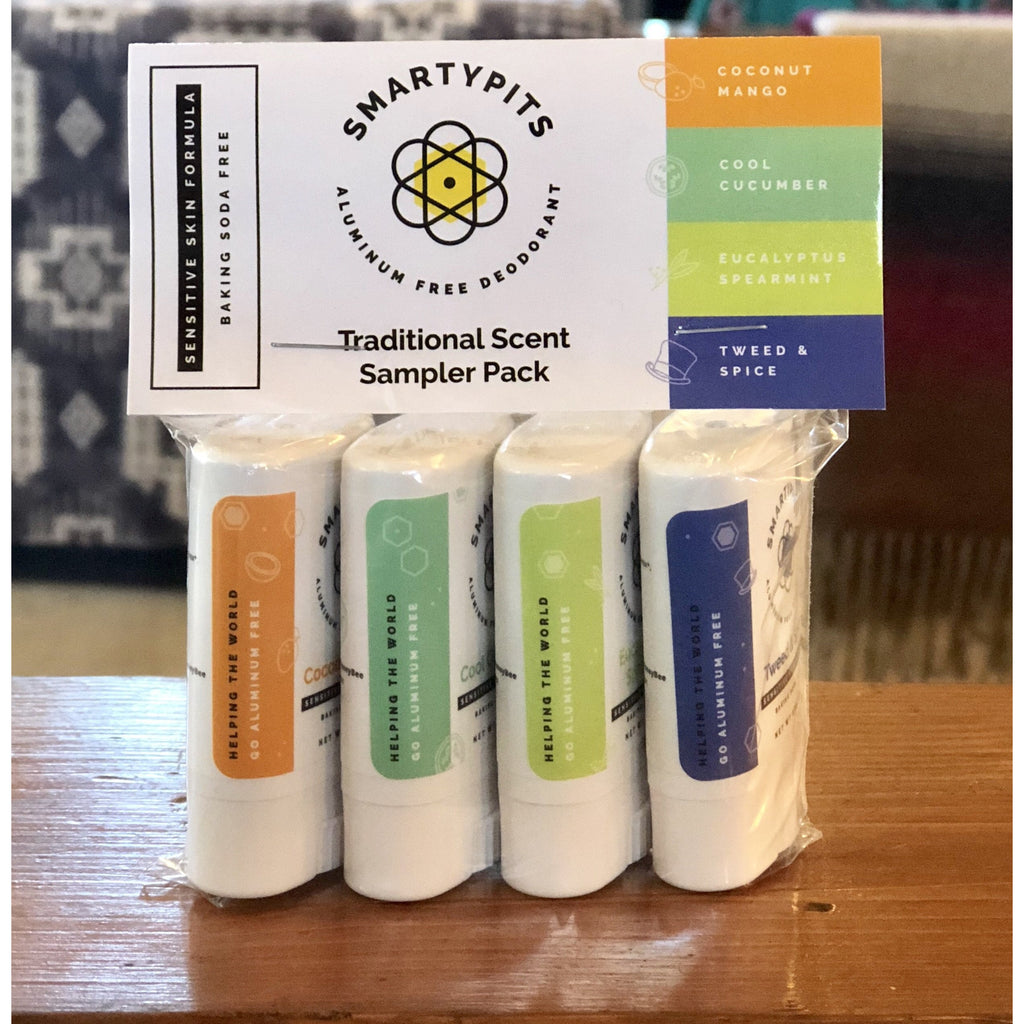 SmartyPits Mini 4 Pack // Sensitive Skin Formula - The Twisted Palomino Boutique