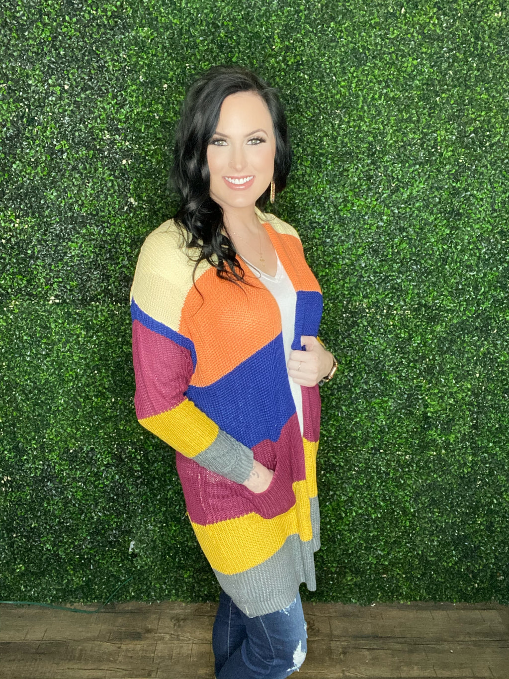 Cori ColorBlock Cardigan