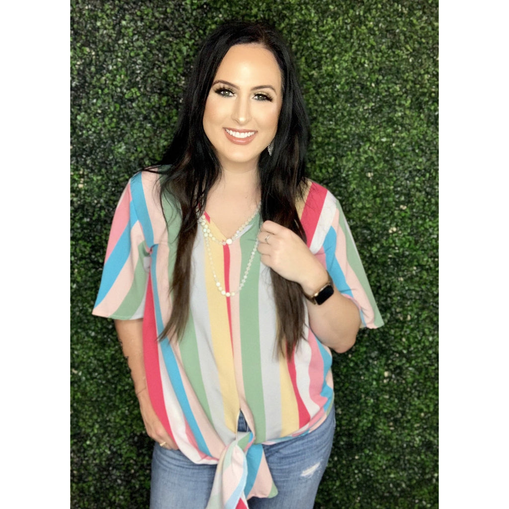 MultiColor Striped Top