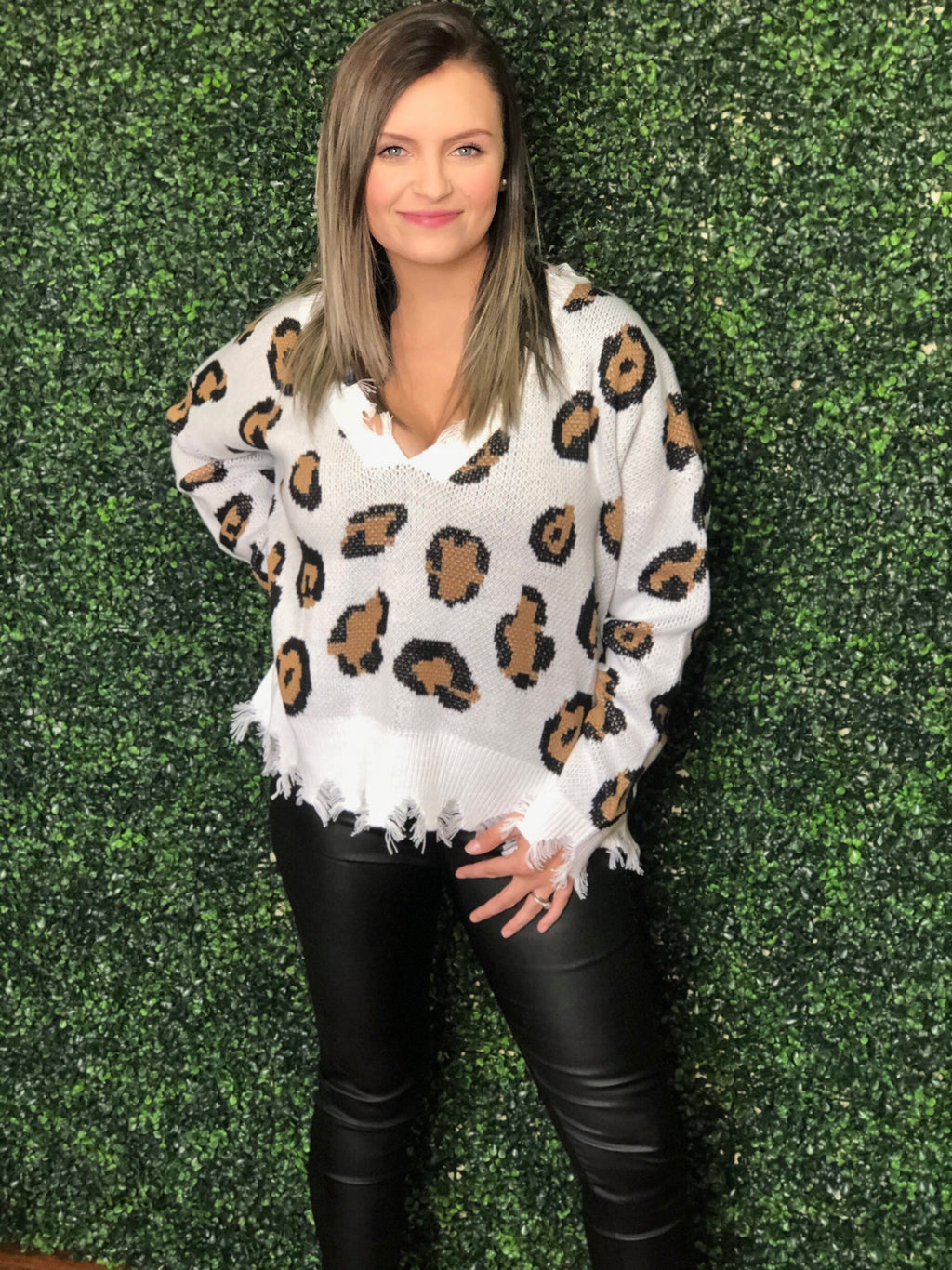 "The ""Lindsey"" Leopard Sweater"