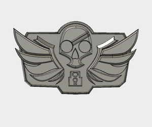 Blackwatch McCree Belt Buckle Facing STL File