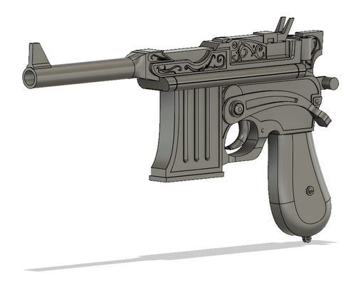 Broadsider Pistol STL File Download