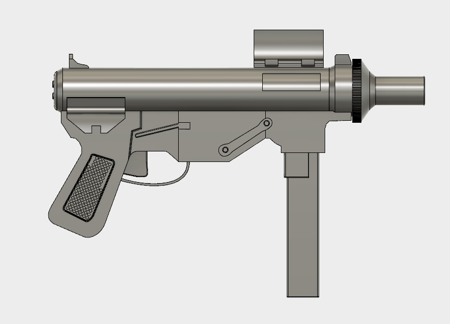 New Vegas 9mm SMG Prop STL File