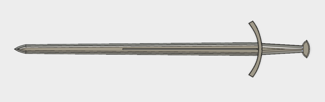 Medieval Game of Thrones Inspired Long Sword STL File
