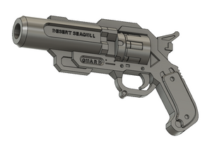 Lifeguard McCree Revolver STL File Download