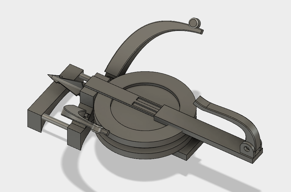 Monster Hunter World Inspired Arm Slinger Bow 3d Printable STL file