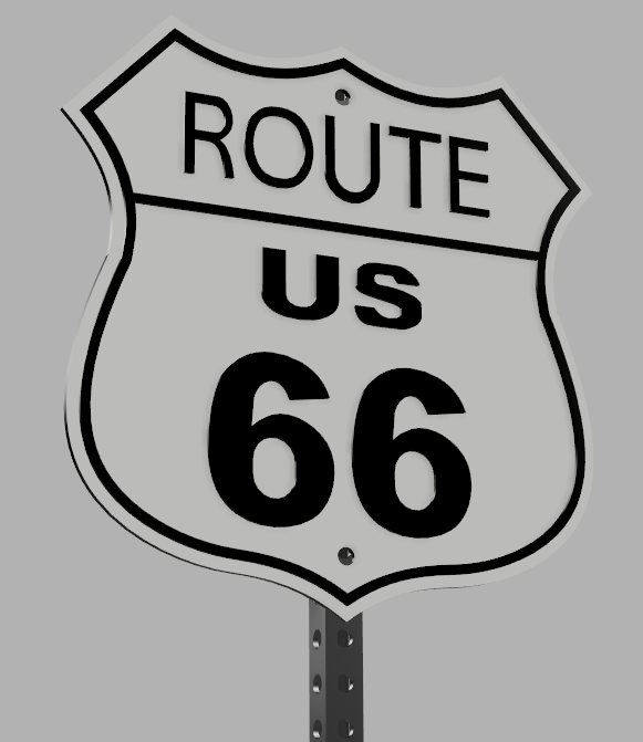 Bob Route 66 Road Sign Weapon