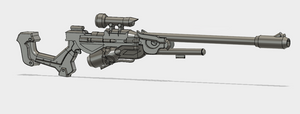 Snow Owl Ana Rifle STL File
