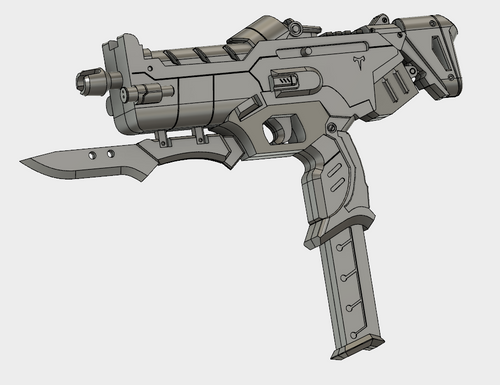 Talon Sombra Machine Pistol STL Download File