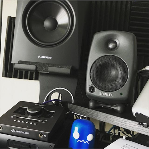 Adam Audio and Genelec reference monitors