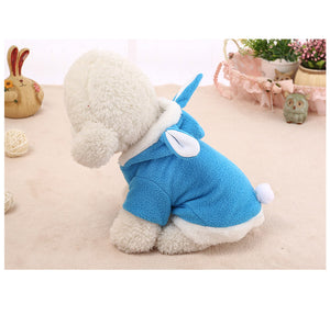 Fleece Bunny Puppy Suit - Blue, Pink, Red