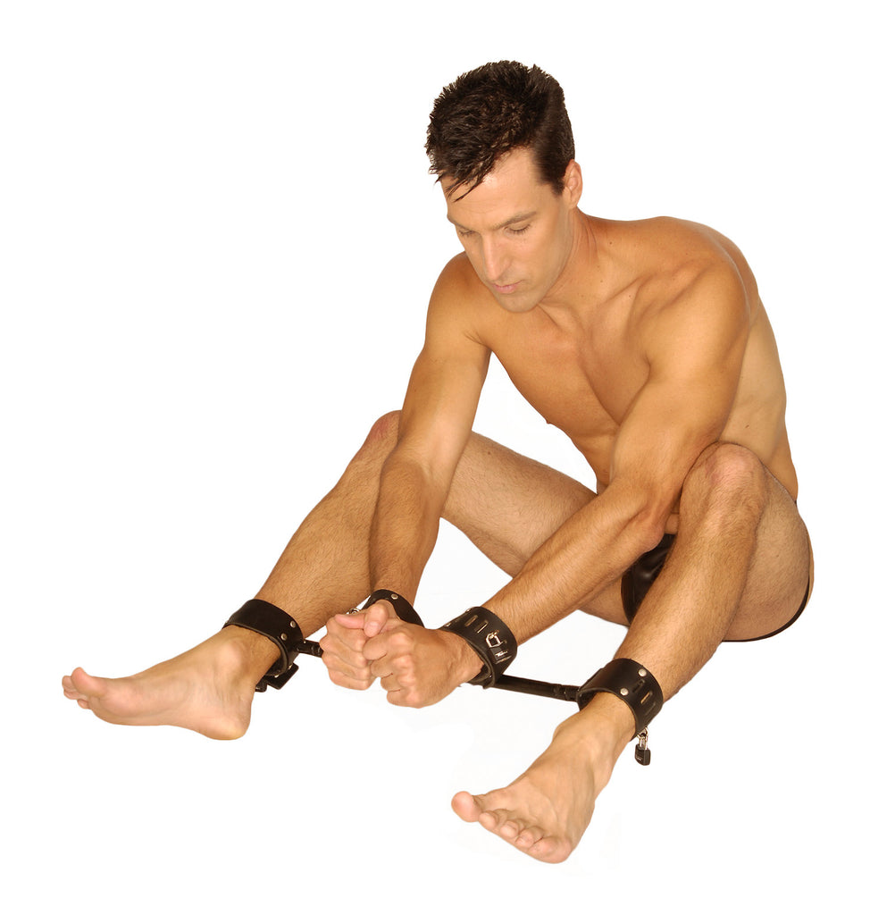 Strict Leather Locking Wrist and Ankle Spreader Bar - Tuctoc