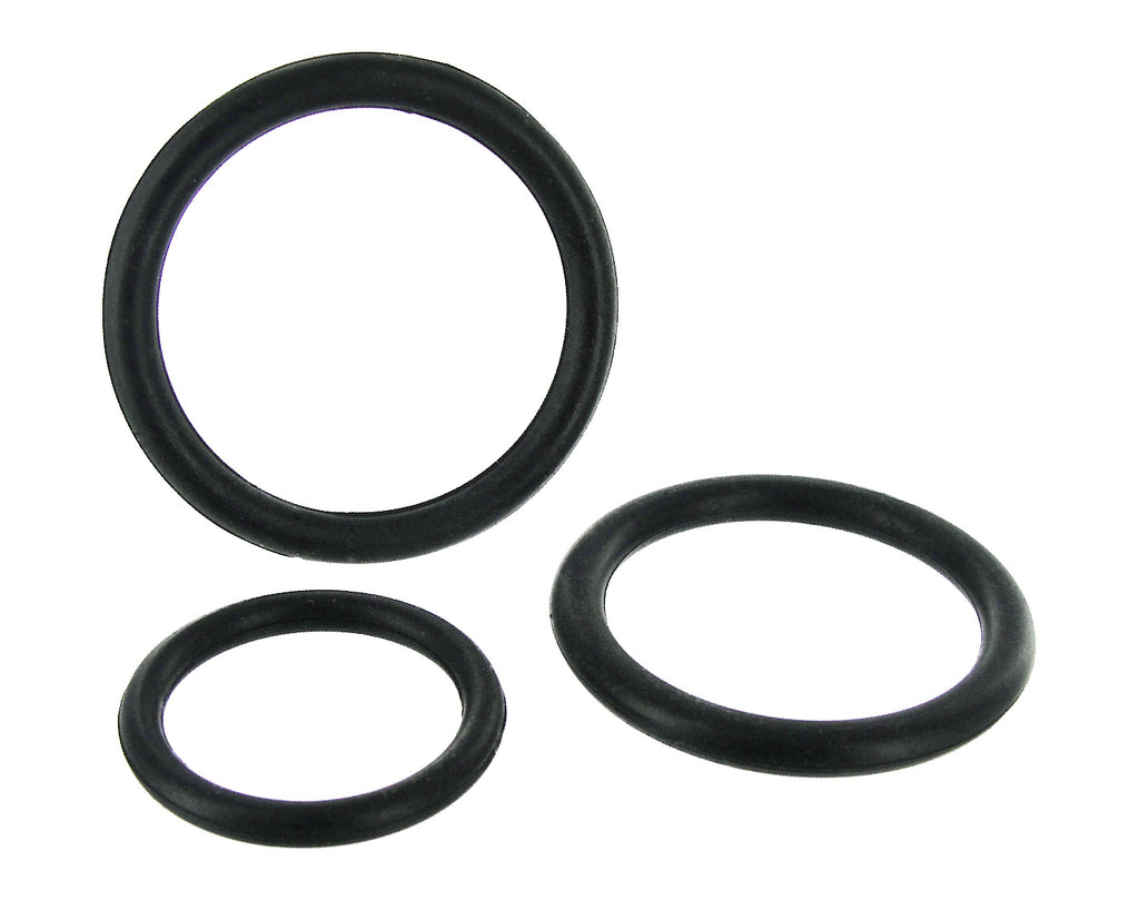Black Triple Silicone Cock Ring Set - Tuctoc
