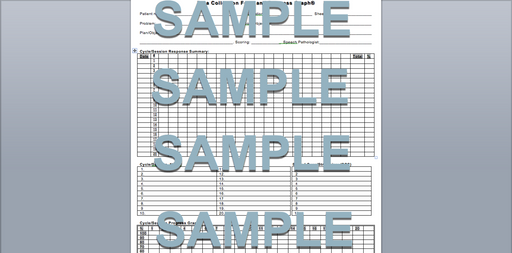 Data Collection and Progress Graph with the Multidimensional Scoring System-WORD download