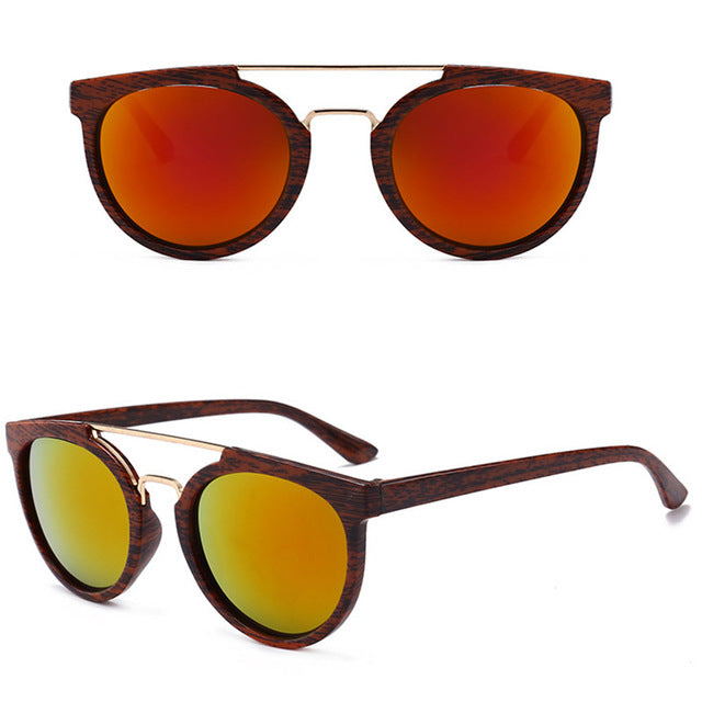2018 Vintage Wood Grain Sunglasses