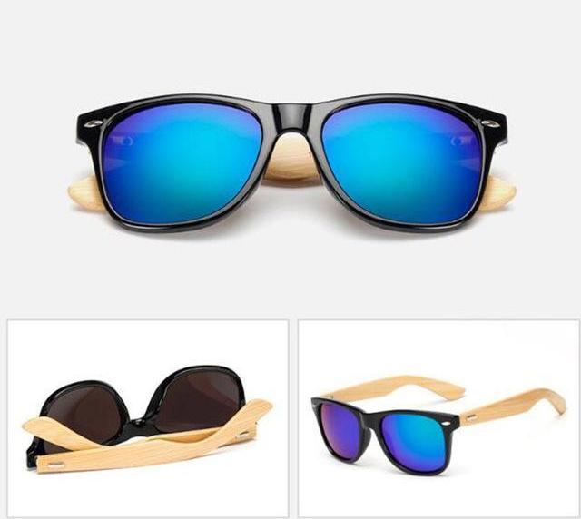 2018 Vintage Bamboo Frame Sunglasses