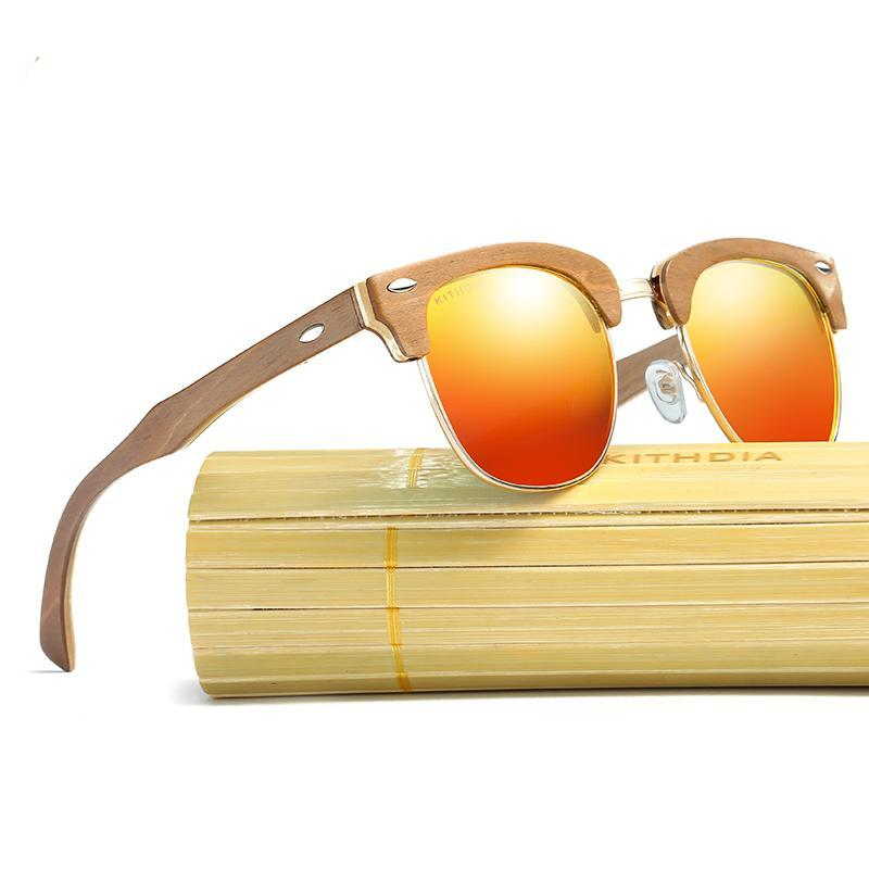 Handmade Polarized Wooden Bamboo Sunglasses