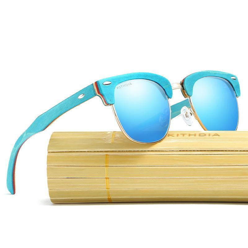 Retro Vintage Polarized Bamboo Sunglasses