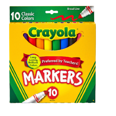 PACK OF MARKERS, 10 COUNT
