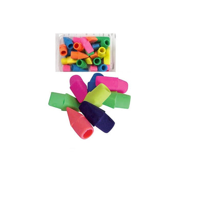 PACK OF PENCIL CAP ERASERS - ASSORTED, 1 DOZEN